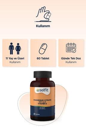 Eczacıbaşı Selfit Magnesium Citrate 200 Mg & D3 Vitamin 60 Tablet 4