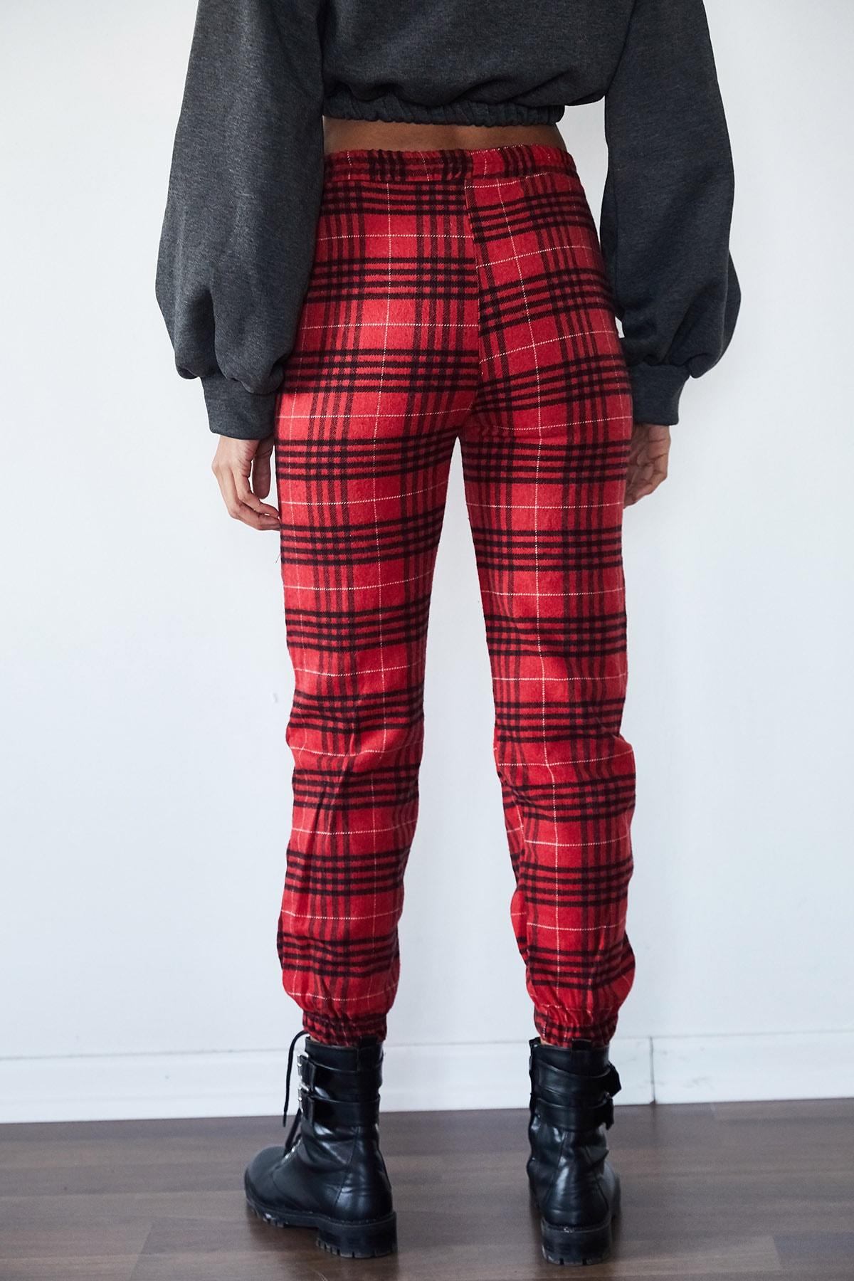 Xena Kadın Kırmızı Kaşe Jogger Pantolon 1KZK8-11234-04