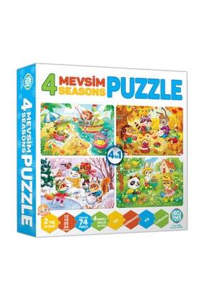 zekaoyunkitap Circle Toys 4 Mevsim Puzzle (12-16-20-24 Parça) 2