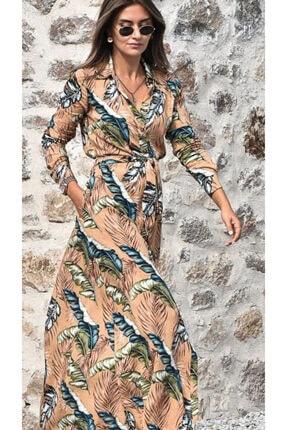 Kadın Altın Gömlek Elbise TYC00093911242