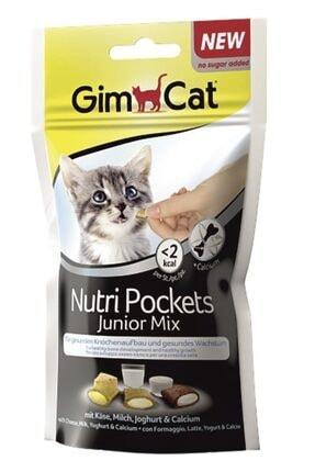 Gimcat Nutripockets Kedi Ödülü Junior Mix 60gr 0