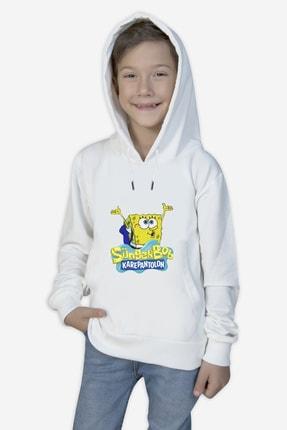 Çocuk Sunger-bob- Beyaz - Unisex-sweatshirt-sunger-bob-11 sungerbobcocuk- ab11