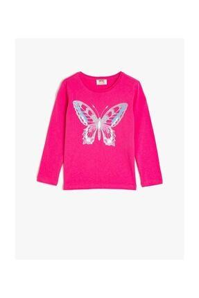 Koton Kız Çocuk Pembe T-Shirt 0