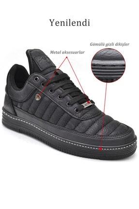 L.A Polo Erkek  Dikişli Siyah  Sneaker 07 4