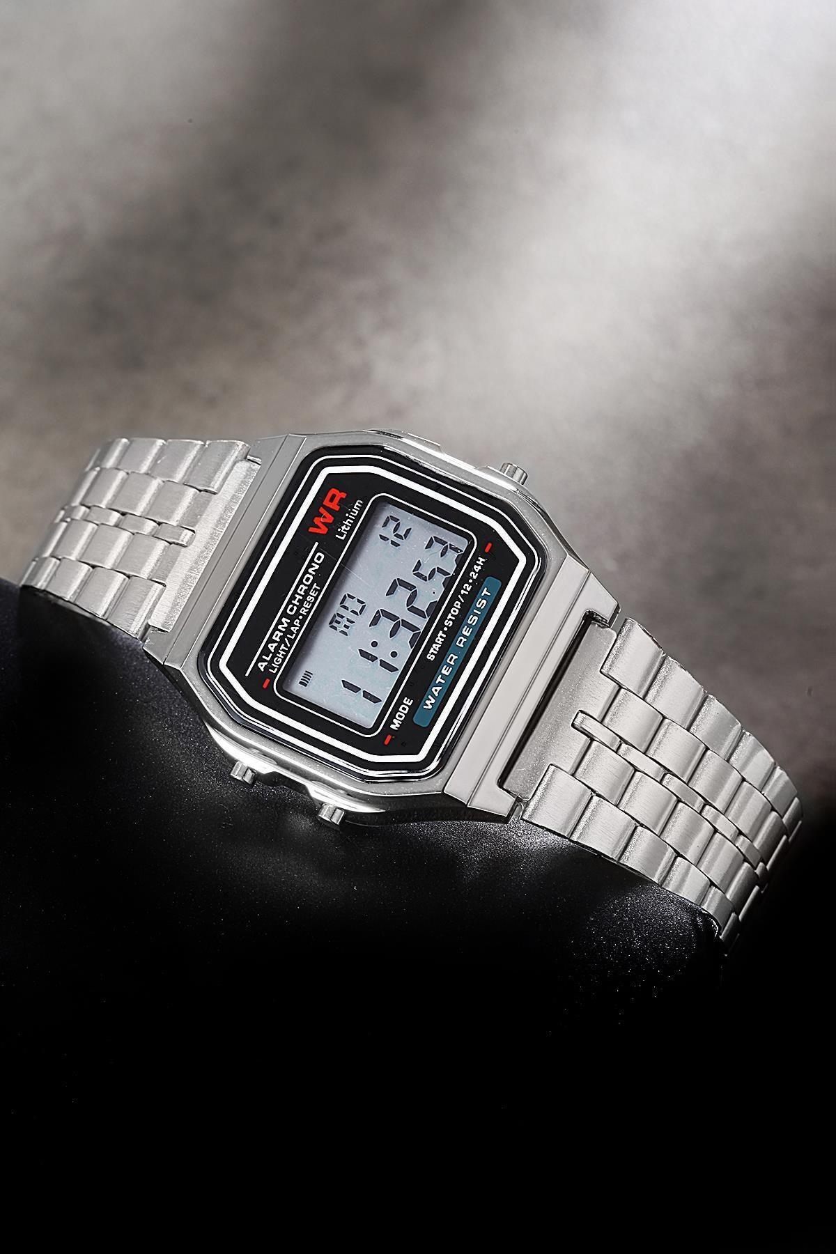Unisex Gümüş Kol Saati
