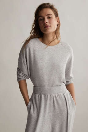 Oysho Kadın Comfort Feel Düz Tişört 0