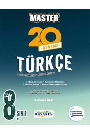 Okyanus Yayınları Okyanus 8. Sınıf Master Türkçe 20 Deneme 0