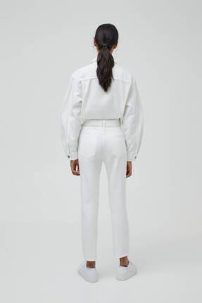 Pull & Bear Kadın Mom Fit Basic Jean 3