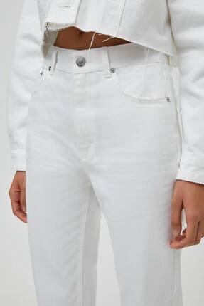 Pull & Bear Kadın Mom Fit Basic Jean 4