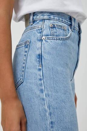 Pull & Bear Kadın Açık Mavi Mom Fit Basic Jean 2