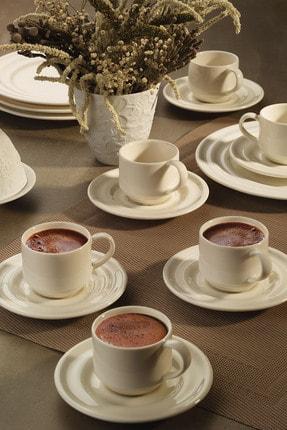 Kütahya Porselen Tuvana Kahve Takımı Krem 0