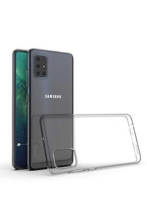 Samsung A71 Kılıf Şeffaf Dayanıklı Ince Esnek Süper Silikon Model 0