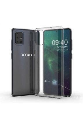 Samsung A71 Kılıf Şeffaf Dayanıklı Ince Esnek Süper Silikon Model 1