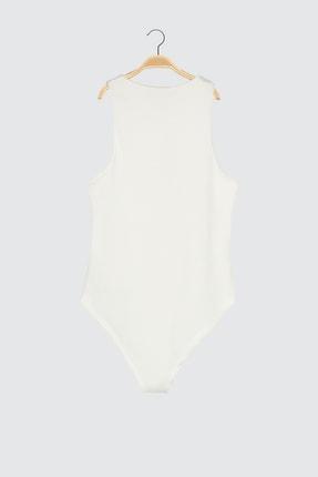 TRENDYOLMİLLA Beyaz Çıtçıtlı Örme Body TWOSS20BD0044 1