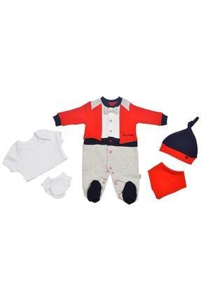 Pierre Cardin Pierre Cardin Papyonlu  Yenidoğan Bebek Hastane Çıkışı Seti Kırmızı 0