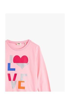 Koton Kız Çocuk  Pembe  Sweatshirt 2