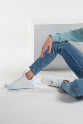 L.A Polo 07 Beyaz Beyaz Dikişli Taban Unisex Spor Ayakkabı 2