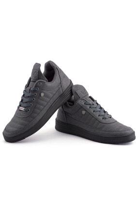 L.A Polo 07 Füme Siyah Dikişli Taban Unisex Spor Ayakkabı 2