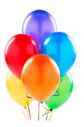 Atom Renkli Balon 100 Adet 0