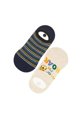 Penti Çok Renkli Erkek Çocuk Babet Çorap 2'li 0