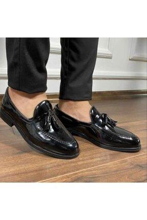 Erkek Ayakkabı Corcik Rugan Siyah 9140CRS