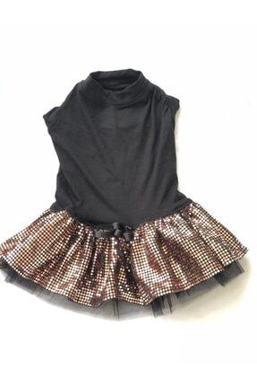 Siyah Payetli Elbise MDPE001