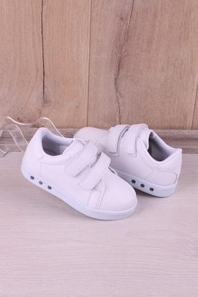 Kidya Erkek Çocuk Beyaz Anatomik Işıklı Spor Ayakkabı 2