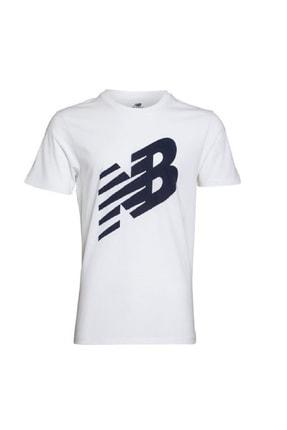 New Balance Erkek T-shirt - -V-MTT620-WT 0