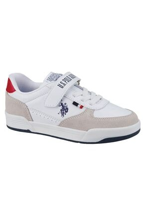 US Polo Assn CLINE JR Beyaz Erkek Çocuk Sneaker Ayakkabı 100601459 0