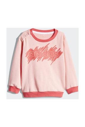 adidas Kız Bebek Alt-Üst Takım I LIN JOGG FT       GLOPNK/CORPNK 1