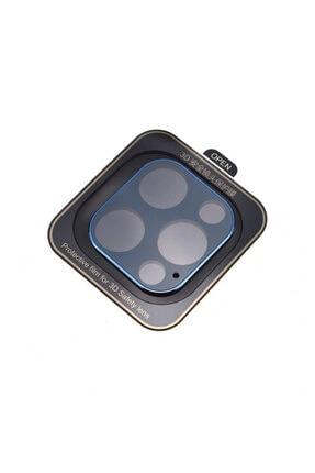 Nezih Case Apple Iphone 12 Pro Max Güçlendirilmiş 3d Full Kamera Koruyucu Mavi 0