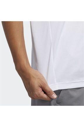 adidas M D2M PL TEE /B Beyaz Erkek T-Shirt 100547711 4