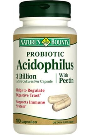 Natures Bounty Nb Probiotic Acidophilus With Pectin 100 Kapsül 0