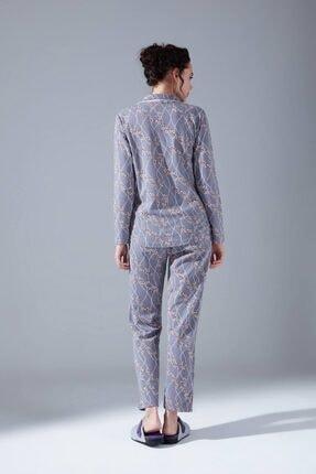 Mizalle Içi Şardonlu Penye Pijama Takımı (Çiçekli) 2
