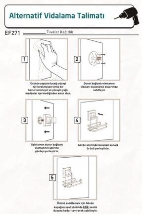 Teknotel Delme Vida Matkap Yok! Easyfıx Yapışkanlı Tuvalet Kağıtlık Mat Siyah Ef271 4
