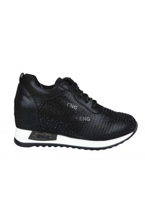 Kadın Siyah Dolgu Topuk Sneaker 20y378 20Y378 Dolgu Topuk