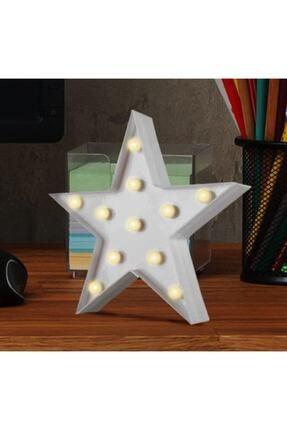 ErdemShop Led Işıklı Beyaz Yıldız Star Masa Duvar Gece Lambası 3d 1