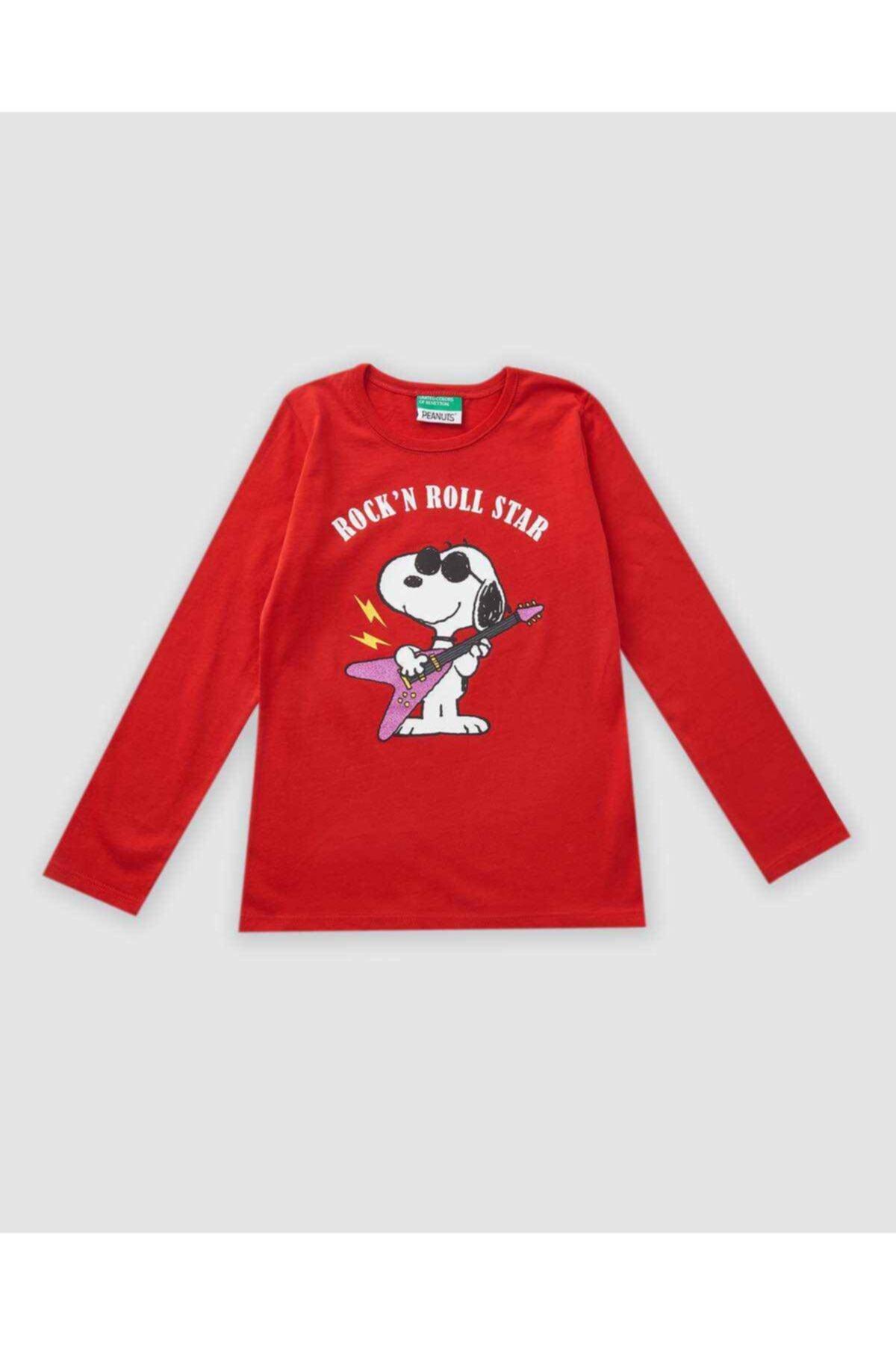 Benetton Snoopy Baskılı Tshirt