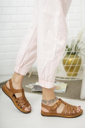Deripabuc Hakiki Deri Taba Kadın Deri Sandalet Dp05-0246 1