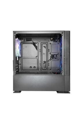 Rampage Prıvate 2x140mm + 1x120mm Rainbow Tempered Cam Gaming Case Oyuncu Kasa 3