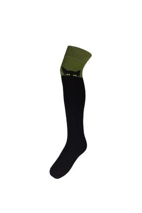 Adel Kedi Desenli Diz Üstü Çorap 0