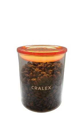 CRALEX Optima 850 ml Turuncu Kapaklı Borosilikat Cam Kavanoz 0