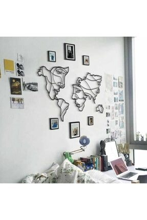 wood design world Ahşap Dekoratif Face World Map Duvar Dekoru Tasarım Tablo 2