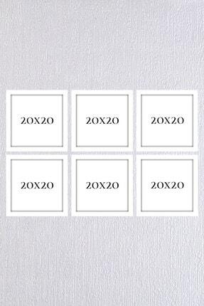 Araste Dekorasyon Beyaz Çerçeve Seti 6 Adet 20x20 0