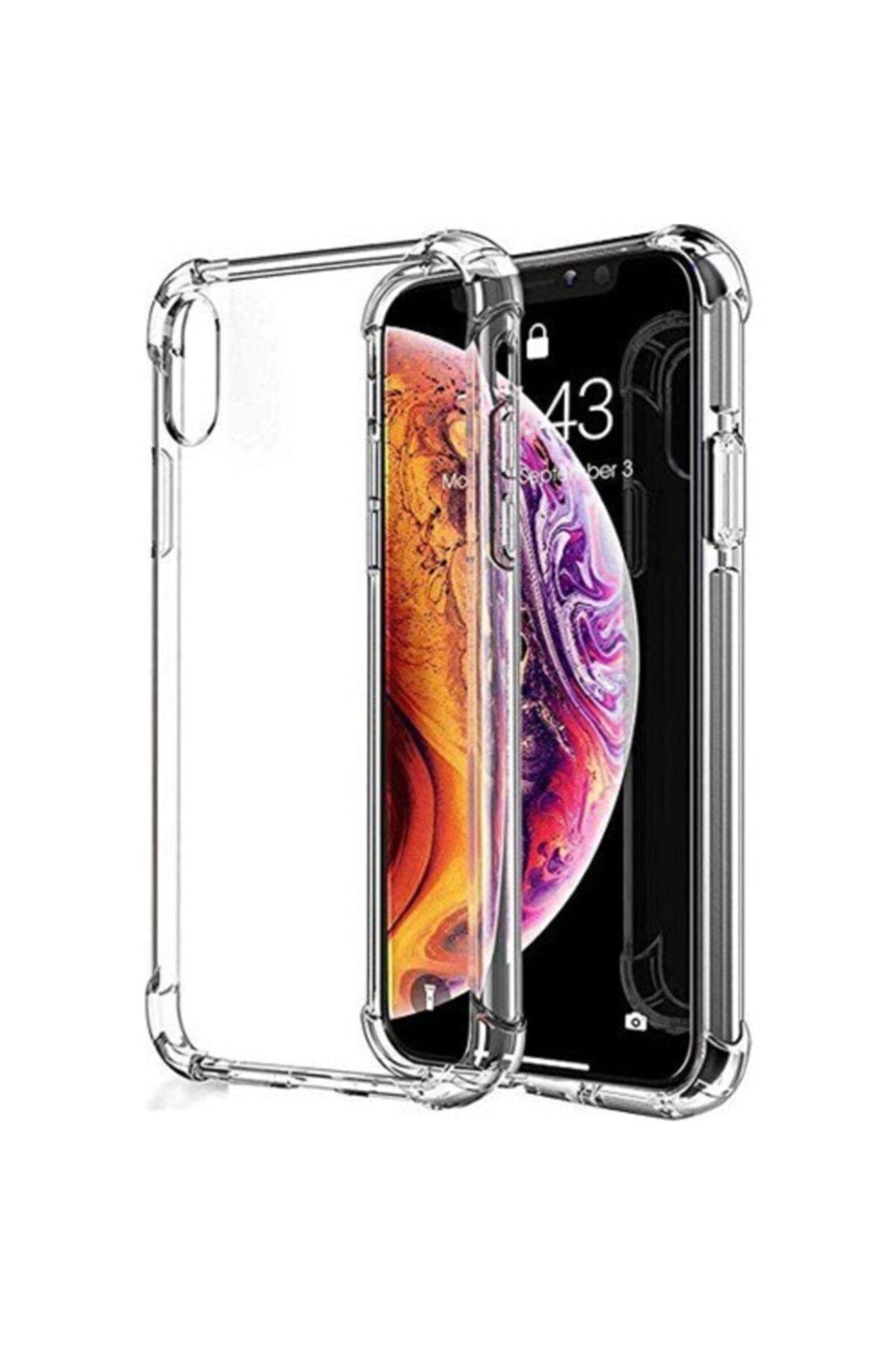 Iphone X/xs Uyumlu Kılıf Antishock Köşe Korumalı Darbe Emici Şeffaf Sert Silikon