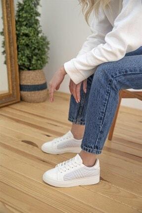 Straswans Kadın Beyaz Rugan Spor Ayakkabı 1