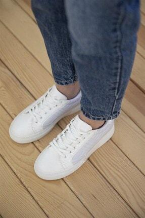 Straswans Kadın Beyaz Rugan Spor Ayakkabı 3