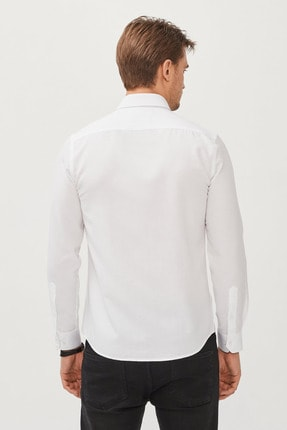 Avva Erkek Beyaz Oxford Düğmeli Yaka Slim Fit Gömlek E002000 2