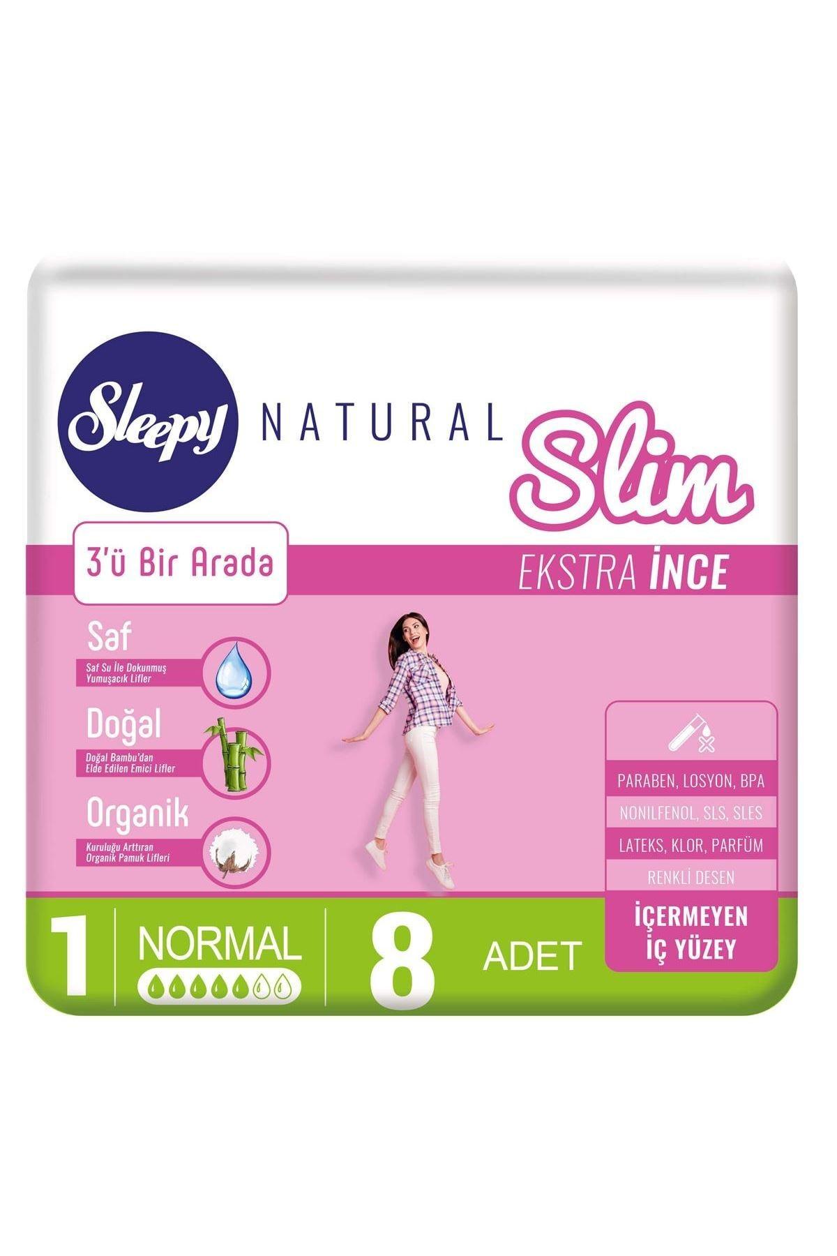 Sleepy Natural Slim Ekstra İnce Normal 8 Ped 0