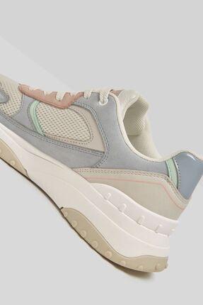 Bershka Kadın Çok Renkli Fileli Kontrast Spor Ayakkabı 2